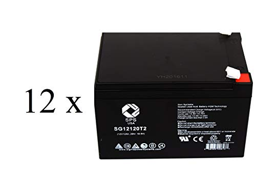 SPS Brand 12V 12Ah Replacement Battery for Peg Perego Vespa Scooter (12 Pack) ()