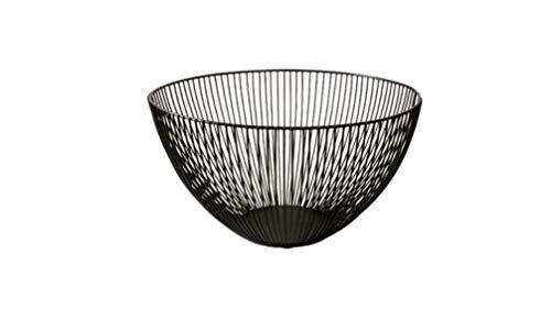 AO Nordic Style Simple Wrought Iron Living Room Fruit Basket Creative Drain Basket Fruit Bowl Snack Plate Storage Basket (Size : -