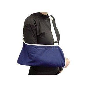 Denim Arm Sling in Blue / White with Shoulder Pad Denim Arm Sling