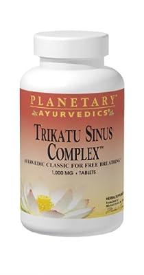 Planetary Herbals Trikatu Sinus Complex by Planetary Ayurvedics 1000mg, Ayurvedic Classic for Free Breathing,120 Tablets