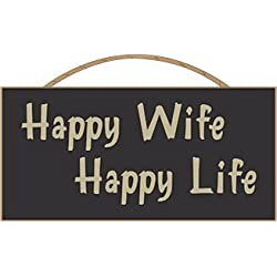 Country Marketplace Happy Wife Happy Life Sign