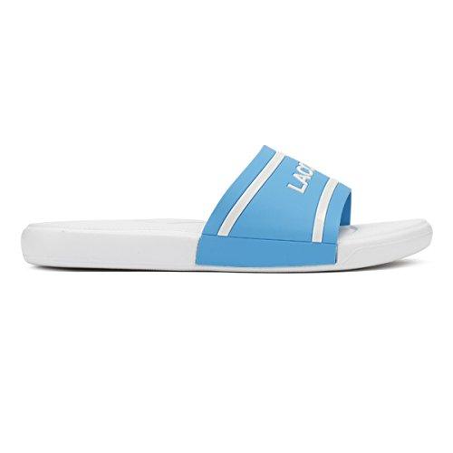 Junior 118 Bianco Blu L Lacoste 30 2 bianco Slides Blu Z7AXdq