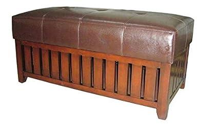 Excellent Amazon Com Wooden Storage Bench Cushion Storage Bench Uwap Interior Chair Design Uwaporg