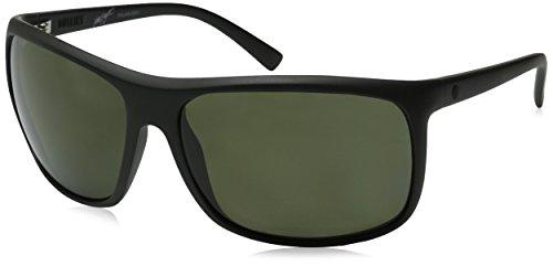 Electric Outline Polarized Wrap Sunglasses, MATTE BLACK, 140 mm