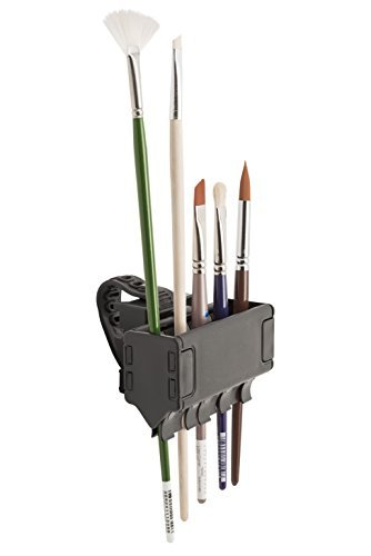 Brush Grip Brush Holder by Easy to Use Products, Holds Up to 8 Brushes (ETU-305),Black by Easy To Use Products