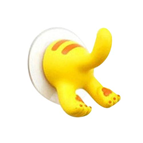 OmkuwlQ Lovely Cartoon Animal Tail Shape Sucker Kitchen Bathroom Wall Hook Strong Vacuum Suction Cup