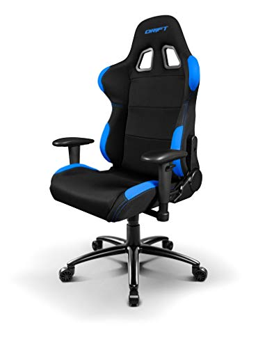 Drift DR100BL - Silla Gaming Profesional, (Tela Alta Calidad, Ergonomica), Color Negro/Azul