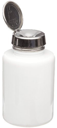 Pump Touch Menda One - Menda 35388 6 oz Round White Glass Bottle With Stainless Steel One Touch Pump