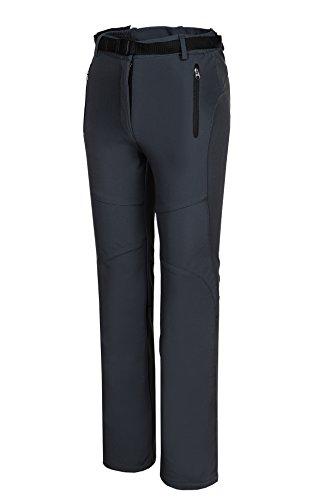 Spvoltereta Outdoor Thick Warm Women Straight Leg Pants Quick Dry Waterproof & Windproof with Fleece Liner for Hiking Trekking Snowmobiling Skiing (6, GRAY)