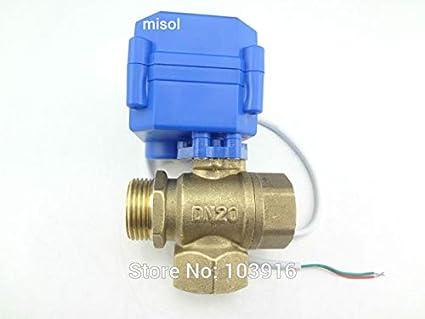3 way motorized ball valve DN20 T port motorized ball valve reduce port