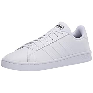 adidas mens Grand Court Sneaker, Ftwr White/Ftwr White/Core Black, 6.5 US