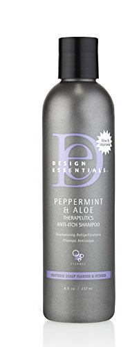 Design Essentials Peppermint & Aloe Anti-Itch Shampoo for Instant Scalp and Dandruff Relief-8oz. - Mint Peppermint Shampoo