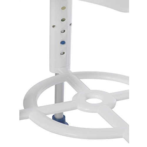 Drive Medical Bath Stool With Padded Rotating Seat, White with Blue Seat by Drive Medical (Image #2)