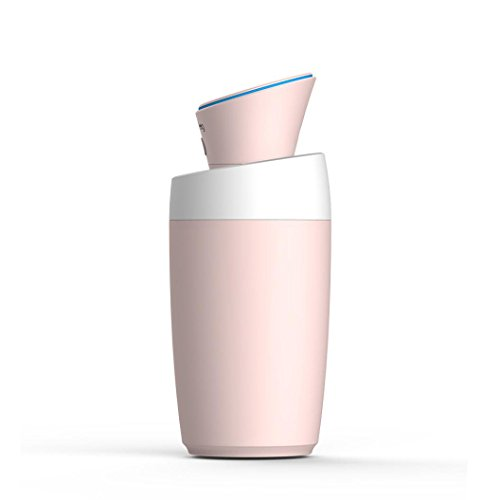 USB Mini Humidifier,Portable Atomization Air Purifier Humidifier Cool Mist Essential Oil Diffuser Ultrasonic Silent Humidifier for Office, Home, Automotive, Bedroom,Desktop,Travel,Car,280ml (Pink)