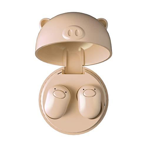 Alician Lovely Pig TWS Earbuds V5.0 True Wireless Bluetooth Headset Mini Earphone Skin Color