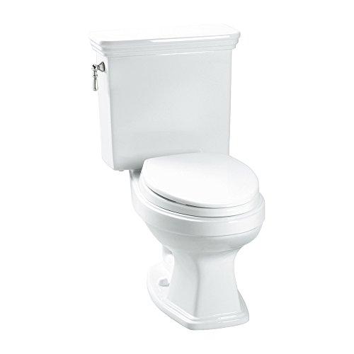 Toto K-CST423EF#01 Eco Promenade 1.28 GPF Round Toilet with Slow Close Seat, Cotton, 2-Piece