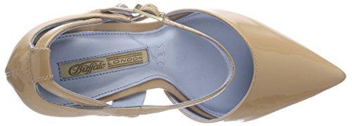 090 Me Forget London Beige Cinturino Scarpe Donna con T Beige Col 726x Buffalo 01 Tacco Patent a Not xZwEd6