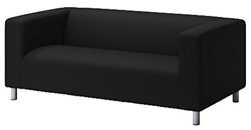 The Klippan Loveseat Cover Replacement Is Custom Made for Ikea Klippan Loveseat Slipcover, A Sofa Cover Replacement. Cover Only! (Pure Black)