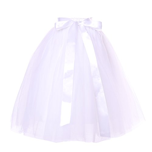 Cilucu-Girls-Tutu-Skirts-Toddler-Baby-Girl-Tulle-Fluffy-Skirt-Kids-Dance-Ballet-Tutu-with-Satin-Bow-5-Layer-4-8-Years-Old-White