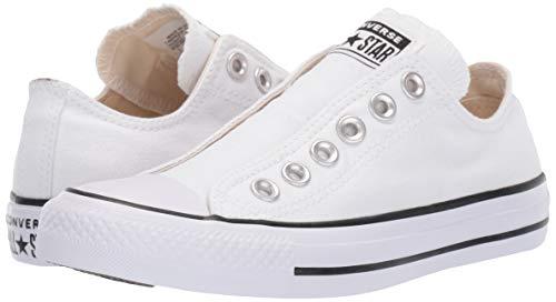 Converse Men's Chuck Taylor All Star Slip Sneaker, White/Black/White, 6.5 M US