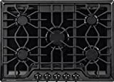 black 30 gas cooktop - Frigidaire FGGC3047QB Gallery 30-Inch Gas Cooktop, Black