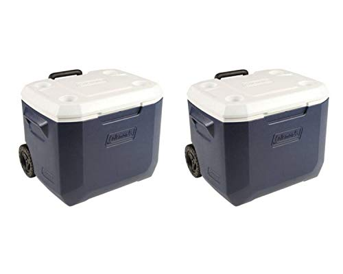 Coleman 50-Quart Xtreme Wheeled Cooler (2 Set, 50-Quart, Black/Blue)