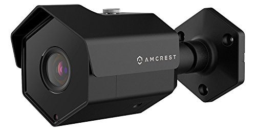 Amcrest UltraHD 5MP Outdoor POE Camera 2592 x 1944p Bullet IP Security Camera, Outdoor IP67 Waterproof, 104° Viewing Angle, MicroSD Recording, 98ft Night Vision, 5-Megapixel, IP5M-1173EB (Black)