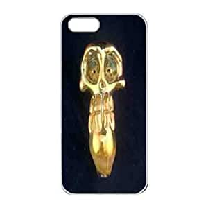 Iphone 5s Case,Hard PC Iphone 5s Protective Case for Ultimate Protect iphone 5s with gold skull