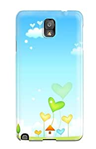 New Premium WRnbLbU881aNnEU Case Cover For Galaxy Note 3/ Happy Heart Garden Protective Case Cover