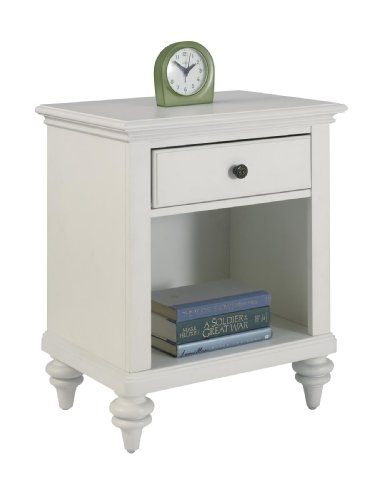 Home Bermuda - Bermuda White Night Stand by Home Styles