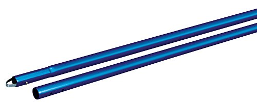 Kraft Tool CC289SB Anodized Aluminum 1-3/4-Inch Swaged Button Handle, 72-Inch, Blue (Blue Anodized Aluminum Handle)