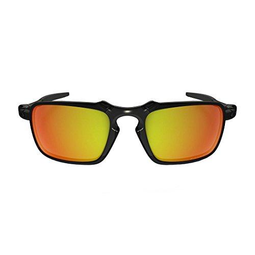 2b914d0e89 Oakley Men s Badman OO6020 Polarized Iridium Rectangular Sunglasses ...