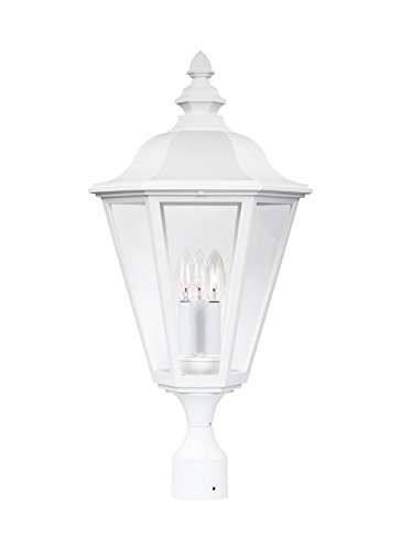 Sea Gull Lighting 8231-15 Three Light Outdoor Post Fixture, White by Sea Gull Lighting