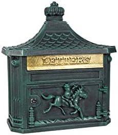 防水 ヨーロッパスタイルのメールボックスレトロは、メールボックス屋外レターボックス防雨クリエイティブホーム郵便受けを壁面に取り付けられたロック 防食 (Color : Green)