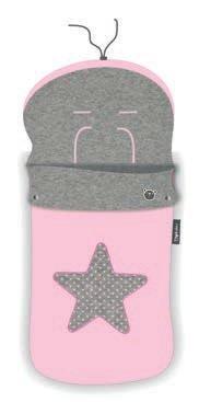 Pirulos 45531704 - Saco carro, diseño star, algodón, 48 x 82 cm, color rosa