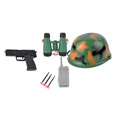 Toyvian Police Hat and Toys Role Play Set for Swat Detective Halloween and Police Costume Dress up (Camouflage Set 102g)]()