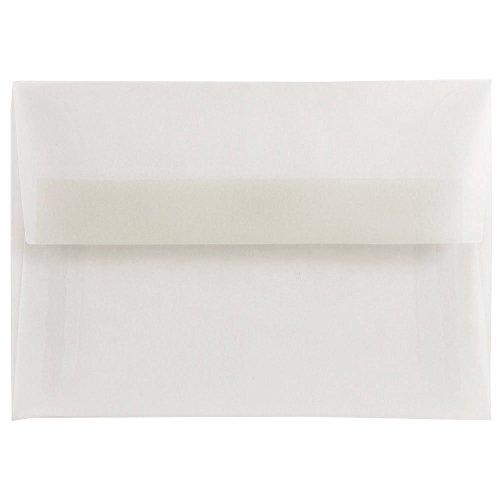 "UPC 609722981767, JAM Paper 4bar A1 Invitation Envelope - 3 5/8"" x 5 1/8"" Envelope - Clear Translucent Vellum - 25/pack"
