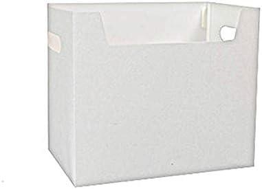ファミリー収納ボックス 小型でシンプルなストレージボックス、ホワイト・ライトポータブル折りたたみデスクトップ多機能A4サイズファイル収納ボックス プラスチック製の収納ボックス (Color : White)