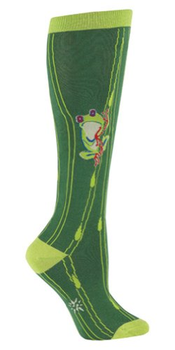 Sock It To Me FROG Womens Knee Socks Green One size fits most