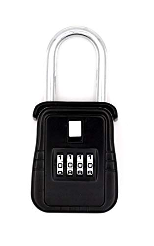 - Combination Secure Alpha 4-Digit Key Lock Box | Portable Unit Hangs on Door | Storage for Multiple Keys | Key Security | Great for Homes or Rental Properties
