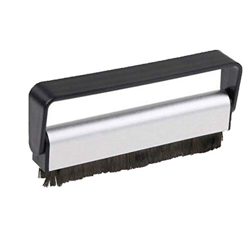 Carbon Fiber Record Cleaner Cleaning Brush Vinyl Anti Static Dust Remover,Black