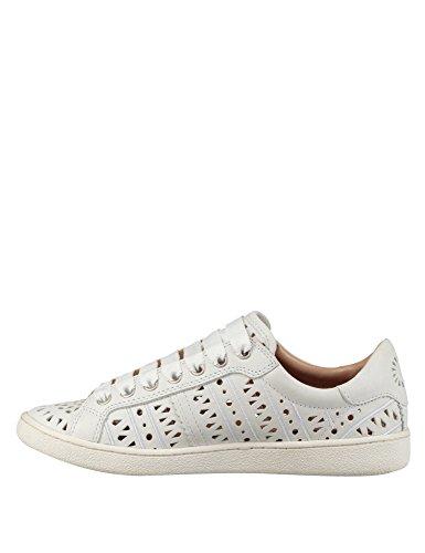 en Formateur Milo Chaussures Cuir Ugg Femme Blanc Baskets Itwfnq667g