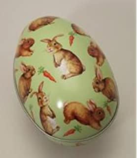 Set of 2 vintage easter scene egg cases easter gift amazon gisela graham easter bunny easter egg metal tin rabbit gift box negle Image collections
