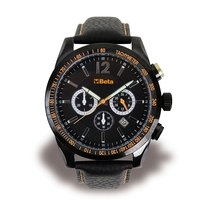 9593 CA BETA CHRONOGRAPH STEEL CASE 5 ATM WATER RESISTANT LEATHER STRAP