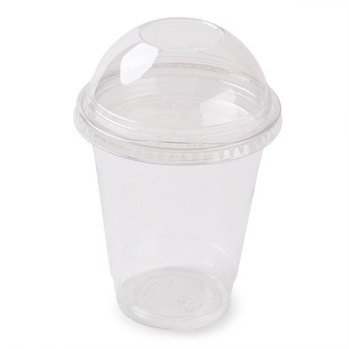 Clear Plastic Disposable Cups for Iced Coffee Bubble Boba Te