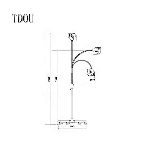 2017 Dental Inspection Light The World Popular Style KD-202B-8 Movable 21W LED Surgical Medical Exam Light Examination Lamp by TDOU (Image #3)