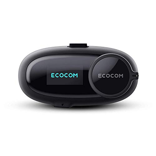 EcoCom Motorcycle Helmet Bluetooth Intercom Communication System Headset (Talk Time 8hrs/Jog Dial/1Km...