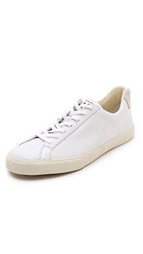 Veja Men's Esplar Leather Sneakers, Extra White, 46 EU (13 D(M) US Men) by Veja