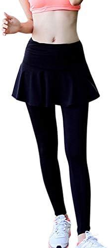 レギンス スカート付き レディース ヨガパンツ スパッツ フィットネス ヨガウエア ジムルームウェア y4