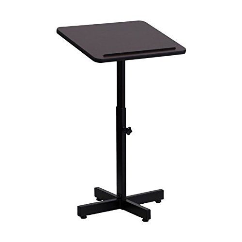 Mahogany Laminate Adjustable Height Metal Portable Lecterns Podiums by ObiwanSales by ObiwanSales